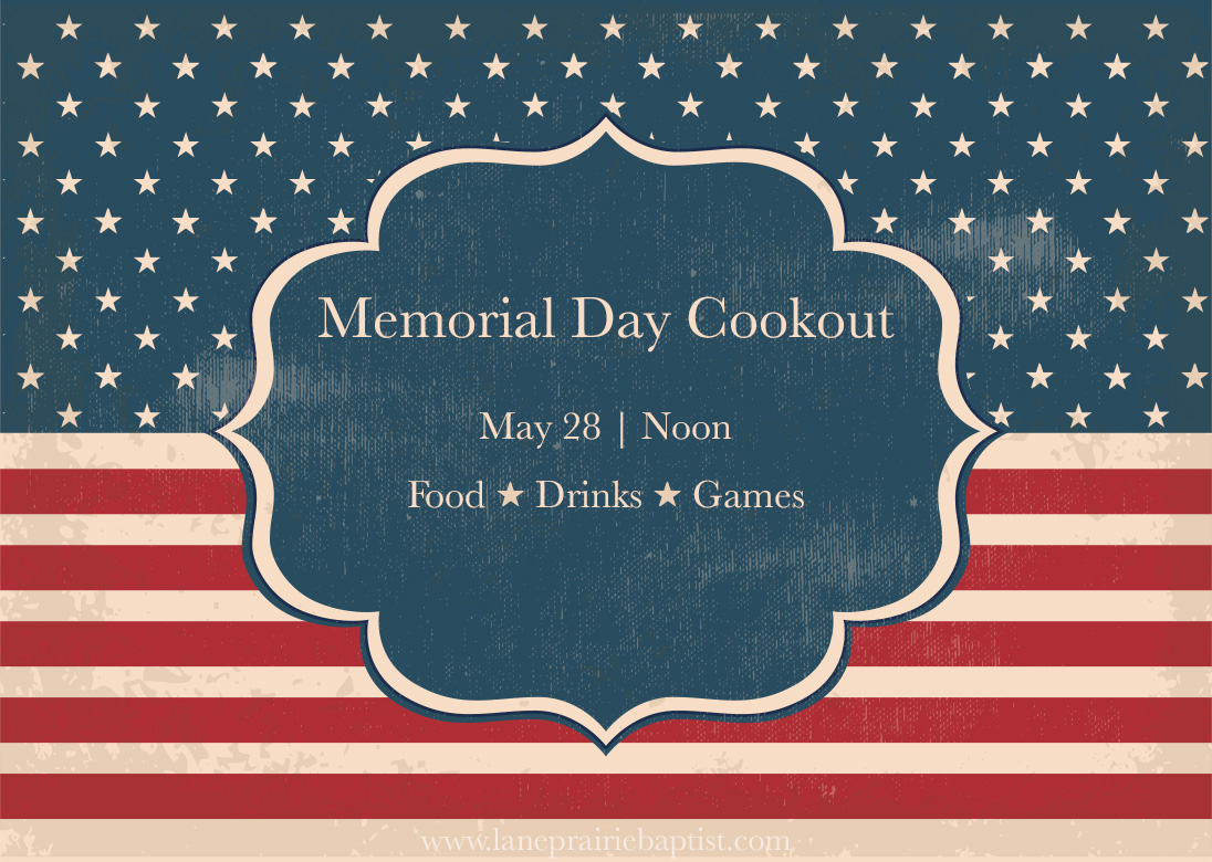 Memorial Day Cookout on American Flag Etiquette